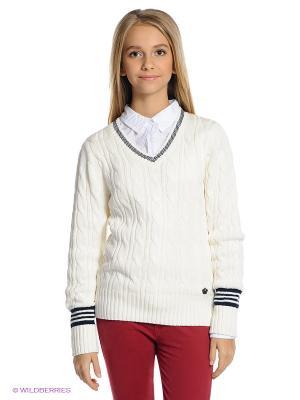 Пуловер SELA. Цвет: молочный