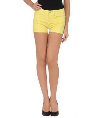 Джинсовые шорты MARC BY JACOBS. Цвет: желтый