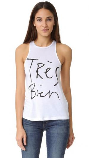 Топ без рукавов Tres Bien CHRLDR. Цвет: белый