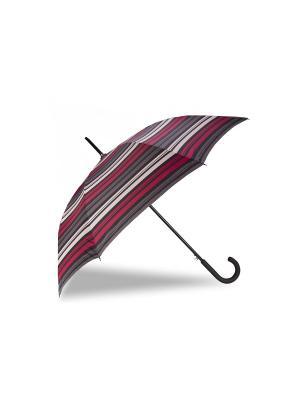 Зонт Isotoner. Цвет: серый, белый, малиновый