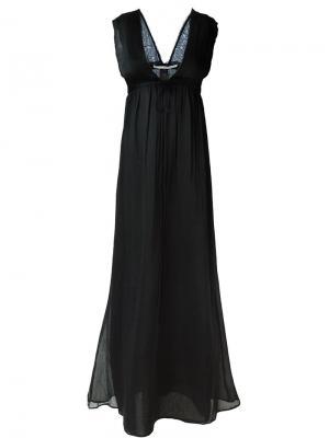 Платье c глубоким V-образным вырезом Isabel Benenato. Цвет: чёрный