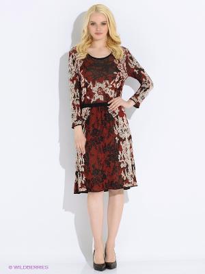 Платье M.Rena. Цвет: бордовый