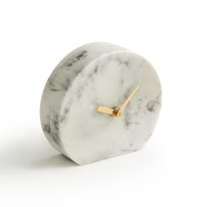 Часы настольные из мрамора BAKALA La Redoute Interieurs. Цвет: белый мрамор