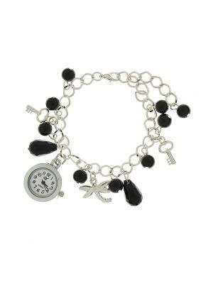 Браслет - часы Olere. Цвет: серебристый, черный