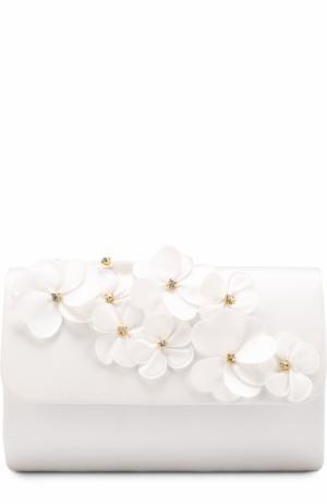 Клатч с цветочными аппликациями David Charles. Цвет: белый
