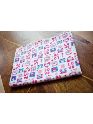 Пеленка LOVE Lucky Child. Цвет: бирюзовый, молочный, розовый