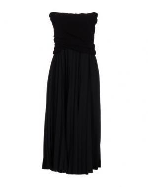Платье длиной 3/4 E-GÓ. Цвет: черный
