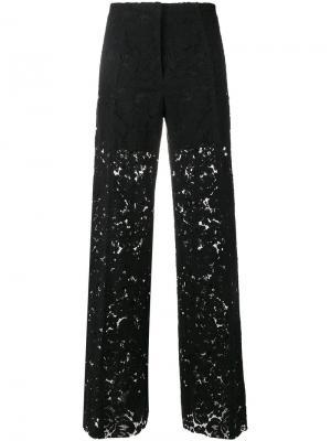 Широкие гипюровые брюки Philosophy Di Lorenzo Serafini. Цвет: чёрный
