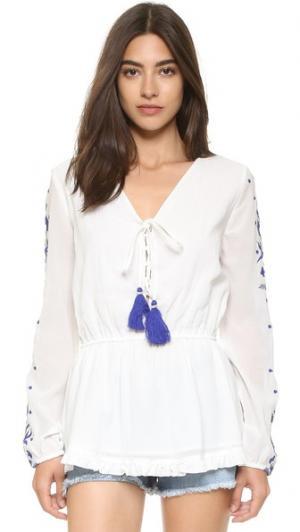 Блуза 55 PAMPELONE. Цвет: белый/синий