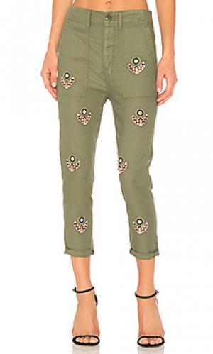 Мешковатые армейские брюки The Great. Цвет: зеленый