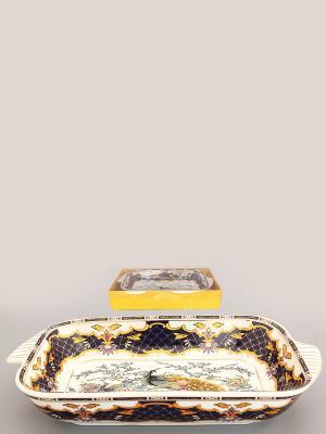 Шубница Павлин на золоте Elan Gallery. Цвет: черный, золотистый, белый