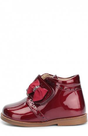 Лаковые ботинки с бантом Clarys. Цвет: бордовый