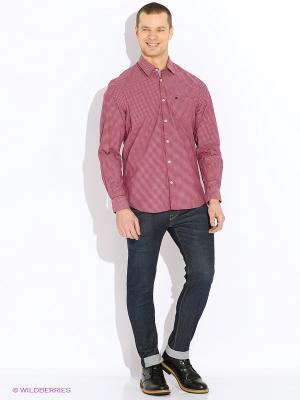 Рубашка LERROS. Цвет: красный