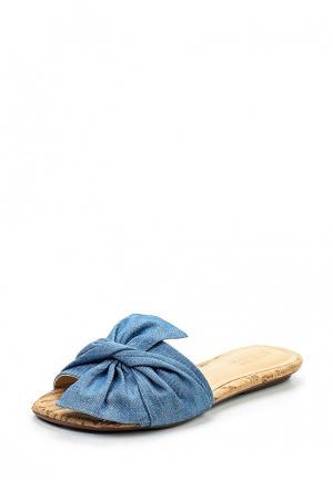 Шлепанцы Schutz. Цвет: синий