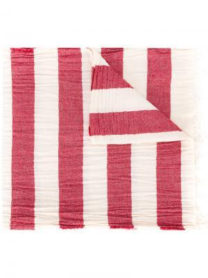 Полосатый шарф Dondup. Цвет: красный