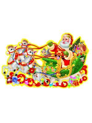 Наклейка для декора 39,5х25 Amico. Цвет: зеленый, красный, желтый