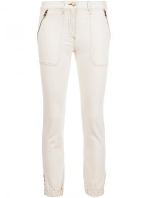 Укороченные брюки Veronica Beard. Цвет: белый