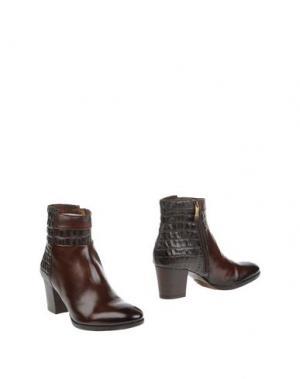 Полусапоги и высокие ботинки PROGETTO. Цвет: темно-коричневый