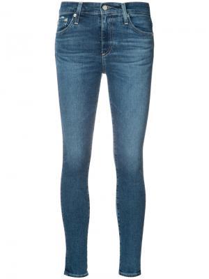 Джинсы Farrah Skinny Ankle Ag Jeans. Цвет: синий