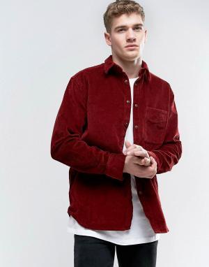 Nudie Jeans Вельветовая рубашка Co Calle. Цвет: красный