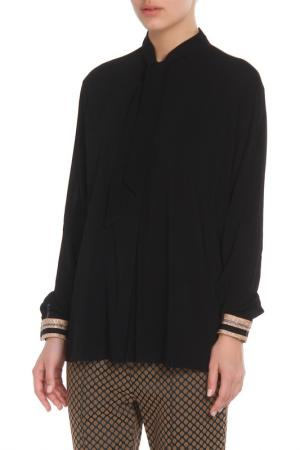 Свободная блузка с застежкой на пуговицы Cristina Effe. Цвет: 2-6a 5, nero