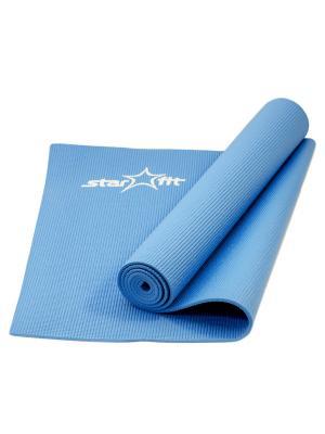Коврик для йоги STARFIT FM-101 PVC 173x61x0,5 см, синий 1/16. Цвет: синий