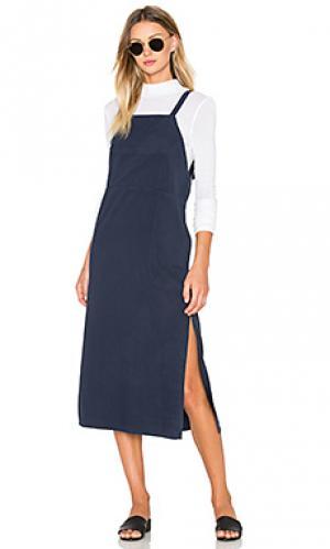 Платье-комбинезон LACAUSA. Цвет: синий