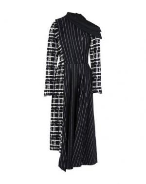 Длинное платье AGANOVICH. Цвет: черный