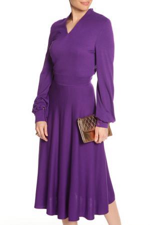 Платье трикотажное NATALIA PICARIELLO. Цвет: фиолетовый