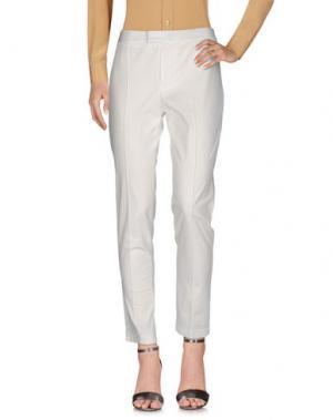Повседневные брюки SILK AND SOIE. Цвет: белый