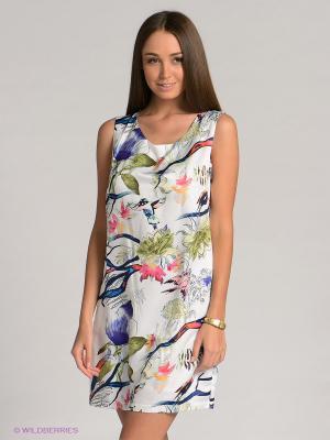Платье Baon. Цвет: белый, темно-синий, зеленый