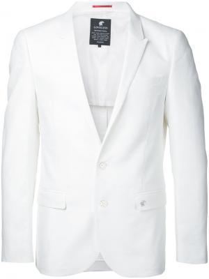 Классический пиджак Loveless. Цвет: белый