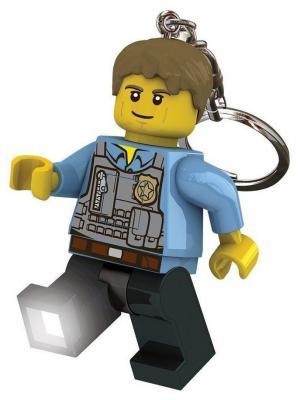 Брелок-фонарик для ключей LEGO City - Chase McCain. Цвет: черный, серый, голубой, желтый