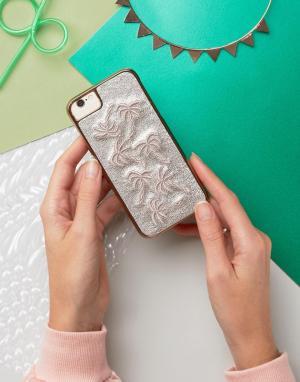 Skinnydip Чехол для iPhone 6/6S/7 с пальмами. Цвет: мульти
