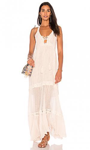 Макси платье paseo del sol Jens Pirate Booty Jen's. Цвет: розовый