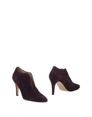 Ботинки ANCARANI. Цвет: баклажанный
