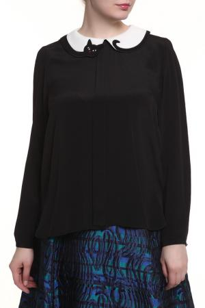 Блуза 22 MAGGIO. Цвет: черный, белый ворот