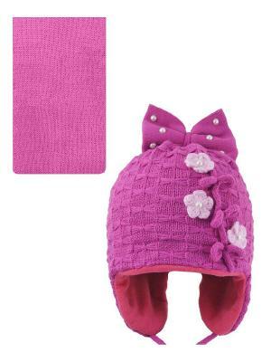 Шапка, шарф Pro-han. Цвет: малиновый, розовый