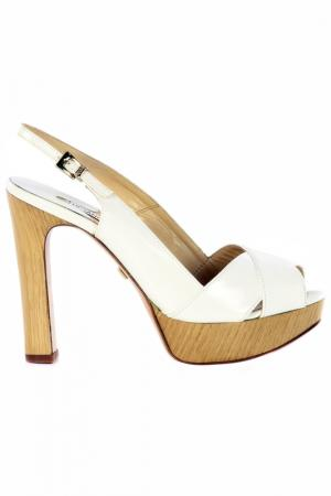 High-heels sandals Luciano Padovan. Цвет: white