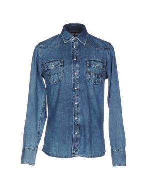 Джинсовая рубашка CARE LABEL. Цвет: синий