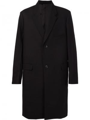 Однобортное пальто Lemaire. Цвет: чёрный