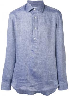 Рубашка с пуговичной планкой Salvatore Piccolo. Цвет: синий