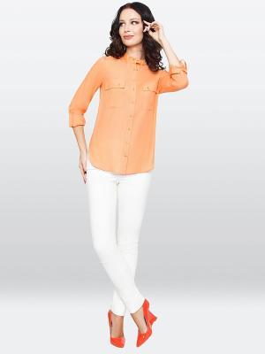 Блузка E.Levy. Цвет: оранжевый