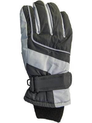 Перчатки YO!. Цвет: черный, серый