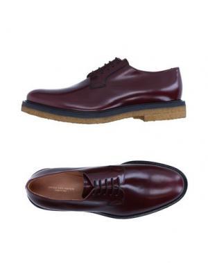 Обувь на шнурках DRIES VAN NOTEN. Цвет: баклажанный