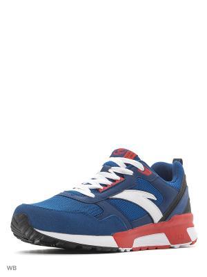 Кроссовки ANTA. Цвет: синий, красный, белый