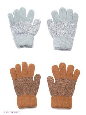 Перчатки, 2 пары FOMAS. Цвет: серый, коричневый