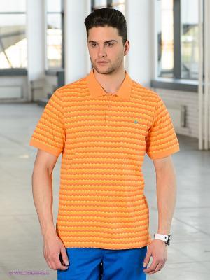 Футболка-поло LRG. Цвет: оранжевый