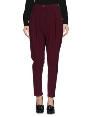 Повседневные брюки BERNA. Цвет: красно-коричневый
