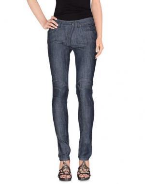 Джинсовые брюки BREMA. Цвет: синий